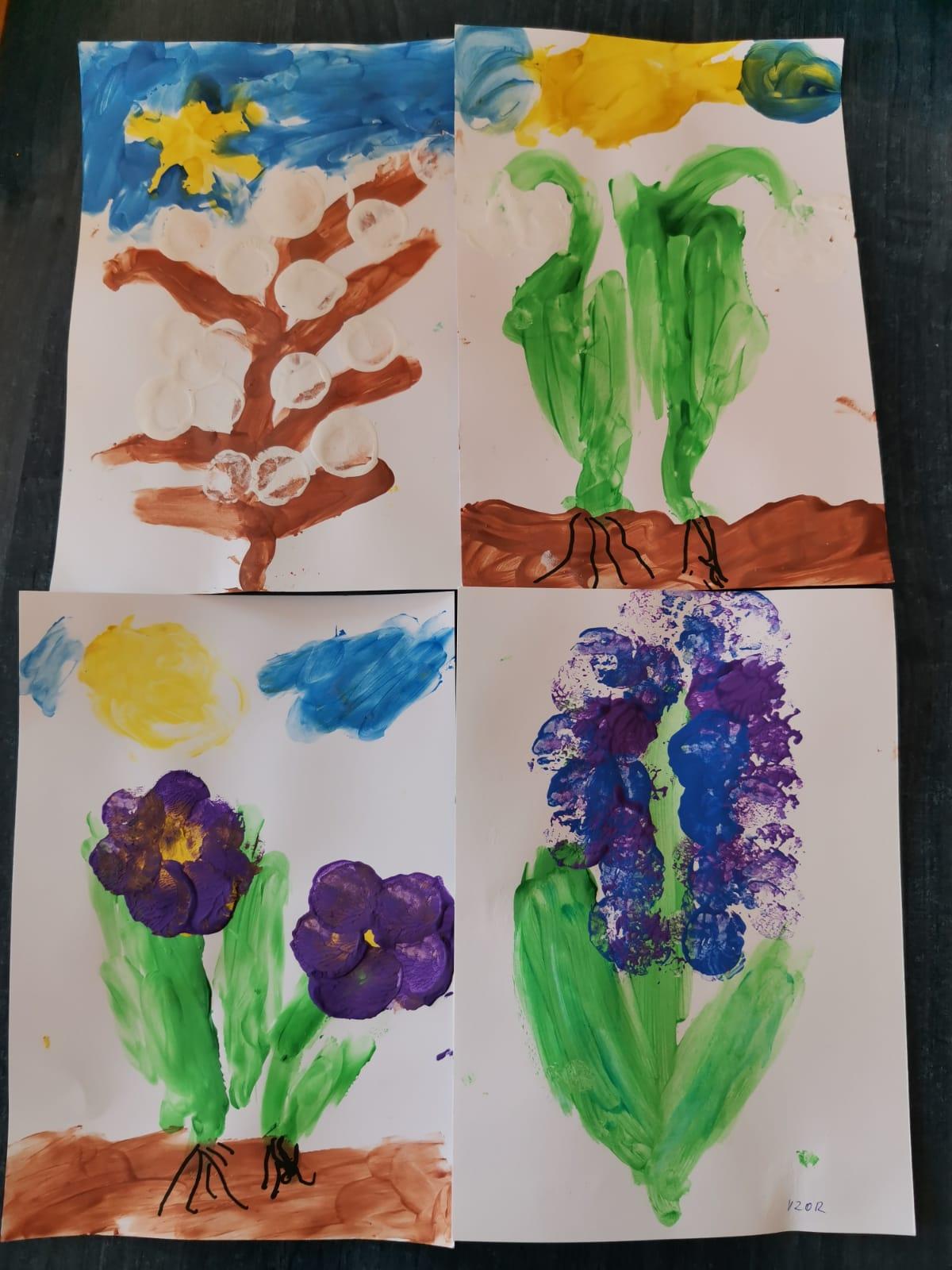 Jarní  květy - školka